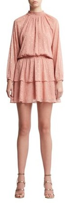 Scoop Womens Foil Dot Print Dress