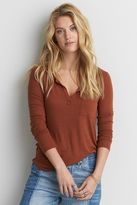 American Eagle Outfitters AE Long Sleeve Henley T-Shirt