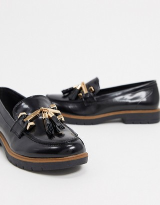 Truffle Collection tassel loafers in black