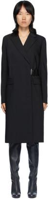 Helmut Lang Black Belted Coat
