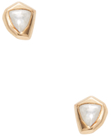 Maiyet 18K Yellow Gold & 0.58 Total Ct. Diamond Cubist Stud Earrings