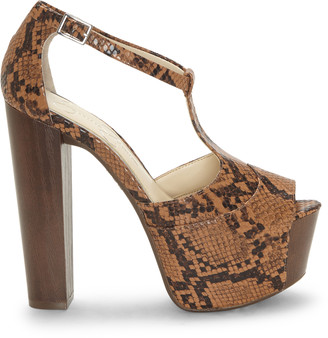 Jessica Simpson Women's Dany Platform Sandals Brown Size 5 Leather From Sole Society