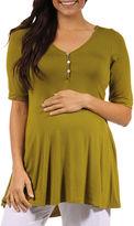 24/7 Comfort Apparel 24-7 COMFORT APPAREL Knit Blouse-Plus Maternity