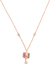Jacquie Aiche Diamond, tourmaline & rose-gold necklace