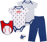 Cutie Pie Baby Blue & White 'All Star' Bodysuit & Pants Set - Infant