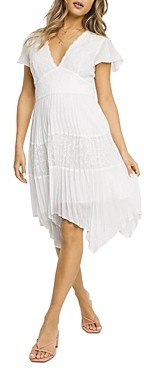 French Connection Bikata Lace Pleated Dress