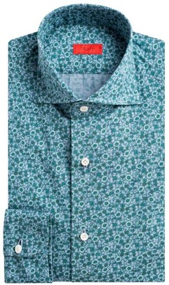 Isaia Contemporary-Fit Floral Dress Shirt