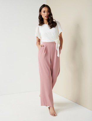 Ever New Alia Flutter-Sleeve Jumpsuit
