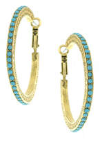 1928 Stone 48mm Hoop Earrings