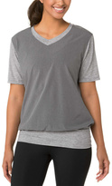 Brooks Heather Oxford Women's Fly-Bly Short Sleeve V-Neck - Women