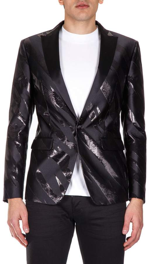 DSQUARED2 Tiger Flash Silk Blend Lurex Jacket