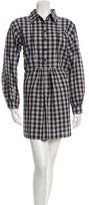 eskandar Plaid Shift Dress