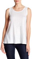 Eileen Fisher Scoop Neck Metallic Linen Tank