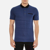 Hugo Desaro Contrast Collar Polo Shirt Royal Blue