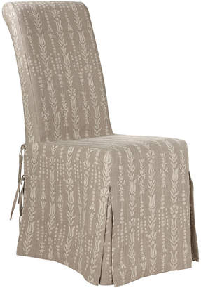 OKA Linen Slip Cover for Echo Dining Chair, with Skirt
