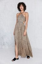 Silence & Noise Silence + Noise Cecilia Strappy Y-Neck Maxi Dress