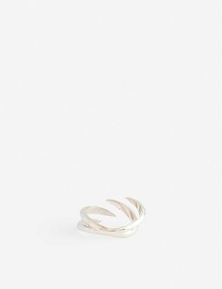 Alan Crocetti Shard 925 sterling silver rhodium-plated vermeil ring