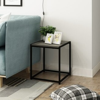 Brayden Studio Mistry 4 Legs End Table Color: Columbia Walnut
