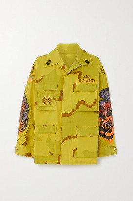 R 13 Overdyed Surplus Printed Cotton-blend Jacket - Yellow
