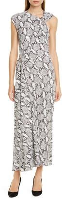 A.L.C. Beale Snakeskin Print Maxi Dress