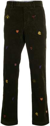 Polo Ralph Lauren embroidered straight-leg trousers