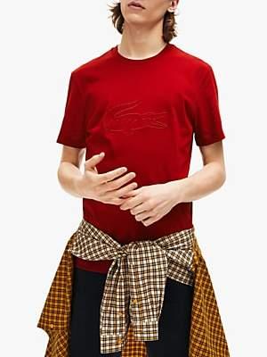 Lacoste Embroidered Crocodile T-Shirt, Z1Q Alizarin