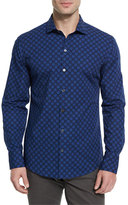 Zachary Prell Medallion-Pattern Long-Sleeve Sport Shirt