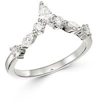 Bloomingdale's Diamond Fancy-Cut Chevron Ring in 14K White Gold - 100% Exclusive