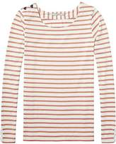 Scotch & Soda Maison Women's Basic Fit Breton Stripe L/s Tee T-Shirt