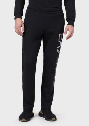 Emporio Armani Joggers In Baby French Terry Cotton With Oversized Logo