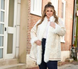 All Worthy Hunter McGrady Faux Suede Coat w/ Faux Fur