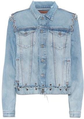 GRLFRND Gia embellished denim jacket