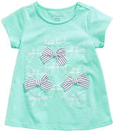 First Impressions Sweet Chic Bows Cotton T-Shirt, Baby Girls, Created for Macy's