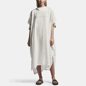 James Perse Linen Hooded Tunic Poncho
