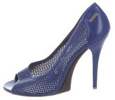 Gianfranco Ferre GF Perforated Peep-Toe Pumps