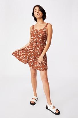 Cotton On Woven Blair Button Through Strappy Mini Dress