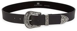 B-Low the Belt Frank Leather Single Buckle Belt