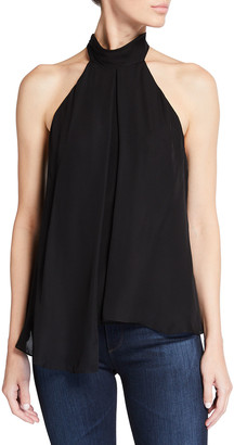 Halston Jane Silk Halter Top