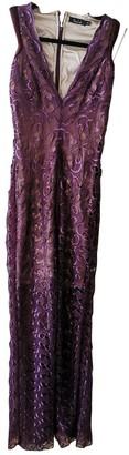 Marios Schwab Purple Silk Dress for Women