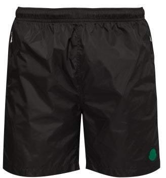 Moncler 2 1952 - Logo Applique Swim Shorts - Mens - Black