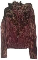 Roberto Cavalli Purple Cotton Top for Women