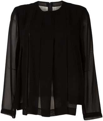 Comme des Garcons Panelled Long-Sleeved Blouse