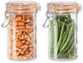 Oggi OggiTM 2-Piece Glass Canisters with Clamp Lid Set
