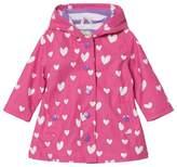 Hatley Pink Colour Changing Floating Hearts Splash Jacket