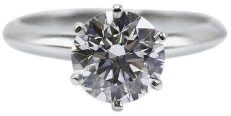 Tiffany & Co. Platinum & 1.68cts Diamond Engagement Ring Size 6.0