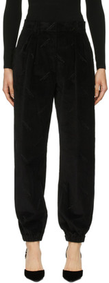 Alexander Wang Black Constructed Waistband Jogger Trousers