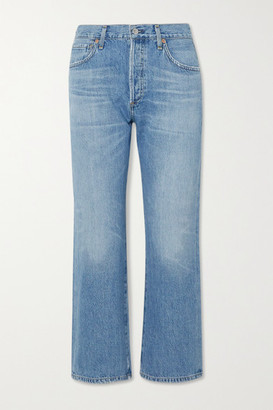 Citizens of Humanity Emery Organic Cropped High-rise Straight-leg Jeans - Light denim