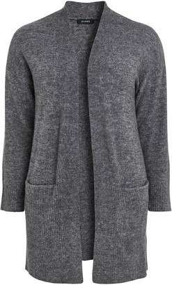 Evans Grey Knitted Cardigan