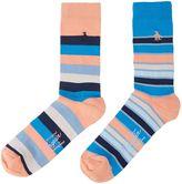 Original Penguin 2 Pack Block Stripe Ankle Socks