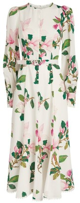 Andrew Gn Belted Floral Dress